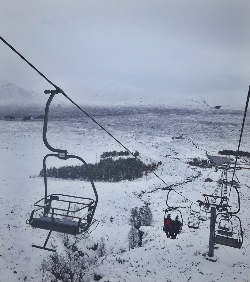 Top of the Glencoe chair lift was bitterly cold but revealed a breathtaking view of the highlands.