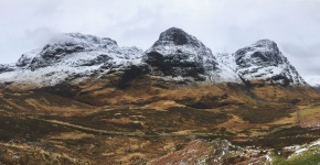 The three peaks captured in one panoramic shot.