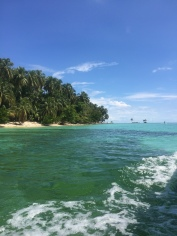 Approaching Isla Zapatilla, a real tropical haven not far from the main island.